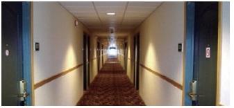 hallway-monitoring راهکارهای هایکویژن برای هتلها